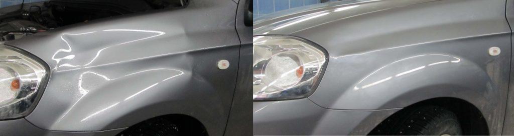 Кузовной ремонт без покраски Mitsubishi